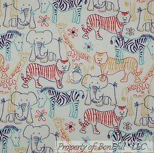 BonEful Fabric FQ Cotton Flannel Animal Jungle Zebra African Giraffe Elephant Sm