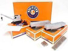 Lionel 31706 Silver POWERED Burro Crane+2 Gondolas wLoads:Rails/Ties SEALED $239