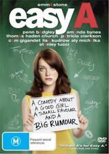 EASY A : DVD -  Emma Stone, Amanda Bynes 2010 COMEDY MOVIE - REGION 4 AUSTRALIA