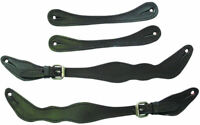 New Western campdraft roping Four Stud Leather Spur Straps with Silver buckles