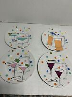 Set of 4 Shoe-themed salad plates by Rosanna Leprechaun Shoes in carrying case