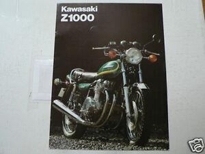 K279 KAWASAKI  BROCHURE Z1000 MOTORCYCLE DUTCH 8 PAGES Z1000-A2 AROUND 1980
