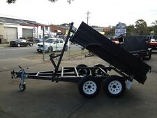 BRAND NEW 8X5 HEAVY DUTY TANDEM WINCH TIPPER TRAILER FREE SPARE & JOCKEY WHEEL