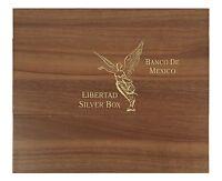 Libertad Münzbox / Box / Münzkassette für 1 Oz + 5 Oz Silbermünzen - HOLZ B-Ware