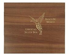 Libertad Münzbox / Box / Münzkassette für 1 Oz + 5 Oz Silbermünzen - HOLZ