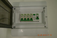 4 Way garage,shed,caravan,workshop consumer unit,distribution board RCD + 4MCB