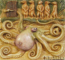 Harmony Kingdom Noahs Park Octopus Tilt A Whirl Tile Picturesque Magnetic Decor