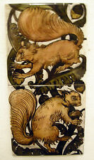 William De Morgan 2 Tile Squirrels Panel / Bathroom / Kitchen / Splashback