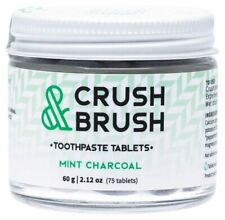 Nelson Naturals Crush & Brush Toothpaste Tablets - Mint Charcoal x75