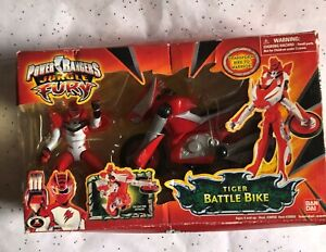 NEW Bandai Power Ranger Jungle Fury Cycles - Tiger Battle Bike & Action Figure