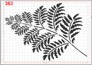 Nice Large Fern Leaf Stencil MYLAR A4 sheet strong reusable Art Craft Wall deco