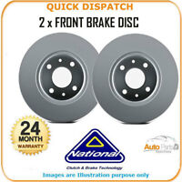 2 X FRONT BRAKE DISCS  FOR FIAT PALIO WEEKEND NBD283