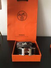 Hermes Clic Clac H Bracelet Black Noir Enamel Palladium PM Full Set RRP £570