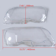 Pair Clear Headlight Lens Lamp Cover Glass New for BMW 3-Series E46 M3 2000-2006