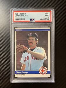 1984 Fleer Wade Boggs #392 PSA 9 Mint