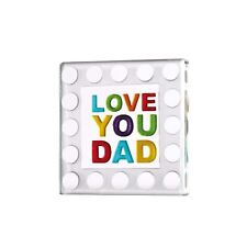Spaceform Miniature Glass Token Dad Dots Border Father's Day Gift 1779 Gift Box