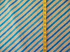 THOMAS TANK TRACKS RAILROAD STRIPE 100% COTTON FABRIC BY THE  1/2 YARD