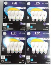 16 PACK GE LED 60W = 9W Soft White 60 W Equ. A19 2700K Non-Dimmable Light Bulb