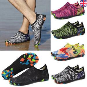 Mens Womens Water Shoes Aqua Shoes Beach Wet Wetsuit Shoes Swim Surf Shoes UK