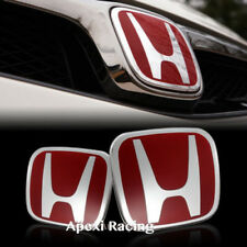 APEXI SET OF 2 RED FRONT + REAR EMBLEM BADGE FOR CIVIC SI COUPE 2006-2011