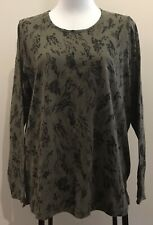 "BNWT: ""Target"" Ladies Size 16 Long Sleeve T-Shirt/Top - Olive Green/Black"
