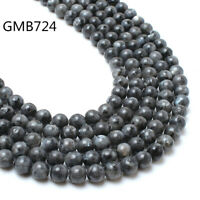 Natural Labradorite Larvikite Round Stone Beads For Jewelry Making  4/6/8/10mm