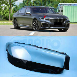 Right Side Headlight Clean Cover PC+Glue For BMW G11 G12 7-Series 2020-2021