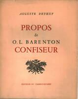 Propos de O. - L. Barenton Confiseur - Auguste Detœuf [1958]