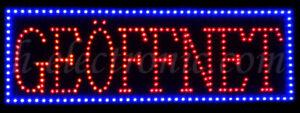 LED Schild Leuchtreklame GEÖFFNET Groß Buchstaben geöffnet Open Blinken 80X30cm