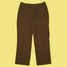 NEW CHOCOLATE BROWN SOFT LIGHT WEIGHT ANNE WEYBURN DESIGNER TROUSERS SIZE 12-14?