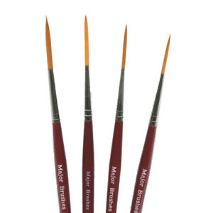 Major Brushes Artists Rigger Paintbrush Set of 4 - #0, #1, #2 and #3
