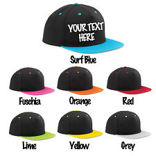 New Personalised Custom Printed Baseball Trucker Rapper Snapback Cap Hat Hip Hop
