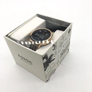 FOSSIL Womens Smartwatch DW11F1 Stainless Steel Mesh Gold Rose Glitz GEN 5E