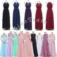 Sexy Women Prom Bridesmaid Long Evening Maxi Dress with Appliques Embroidered