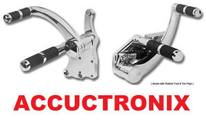 Chrome Diamond Forward Controls by Accutronix USA Harley FXST Softail 2000-2017