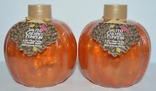 2 BATH & BODY WORKS SALTED CARAMEL PUMPKIN 2 IN 1 BUBBLE BATH FOAM WASH 14.5 OZ