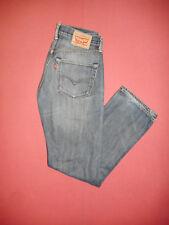 1980 S Levi Strauss 501 W32 L32 Patch en Cuir Homme Bleu Denim Jeans B677