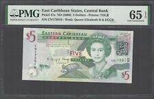 East Caribbean 5 Dollars ND (2008) P47a Uncirculated Grade 65