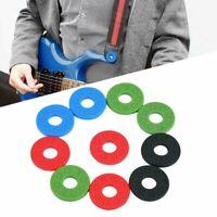 10x Guitar Strap Locks Washer Rubber Safety Strap Lock Rondella per Chitarra Bas