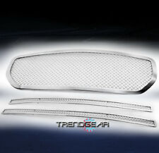2005-2007 DODGE MAGNUM MAIN UPPER +BUMPER STAINLESS STEEL MESH GRILLE COMBO 3PCS