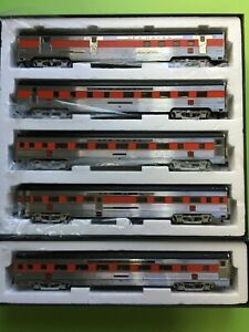 American Models S scale NEW HAVEN Budd Passenger Set 5 Cars in boxes