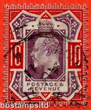 "SG. 256a. M43 (5) d. 10d Dull Purple & Scarlet ©. "" NO CROSS ON CROWN ""."