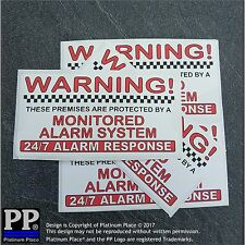 Property Alarm System Monitored Warning Security Stickers Home Business Signs