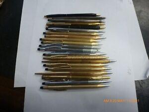 21 PCs LOT Vintage CROSS 10k 12k Gold Filled Pen Pencils