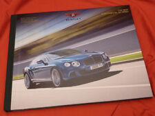 2012 BENTLEY New Continental GT Speed (W12 625 PS) Customer Prospekt Brochure D