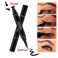 Winged Eyeliner Stempel wasserdicht Make up Womens Eye Liner Bleistift schwarz F