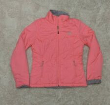 The North Face Fleece Lined Puffer Jacket Bright Pink Quilted Woman's Small