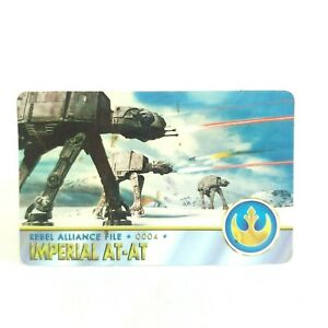 Star Wars Imperial AT-AT Rebel Alliance File 4 Antioch 1996 Vintage Trading Card