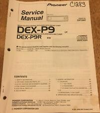 PIONEER DEX-P9 P9R DSP CD/DVD PLAYER TUNER ORIGINAL SERVICE REPAIR MANUAL