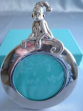 TIFFANY sterling silver ~ 'MONKEY' PICTURE FRAME BABY CHILD ~ ADORABLE!!